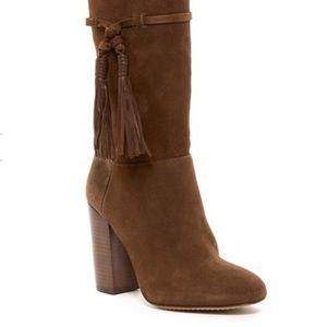 Vince Camuto Fermel Slouch Tassel Boot Brown SZ 7